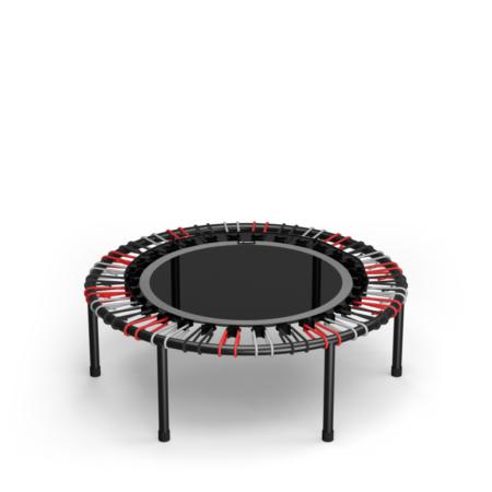 Grey Standard Mat / Red, Black, Silver Bungees